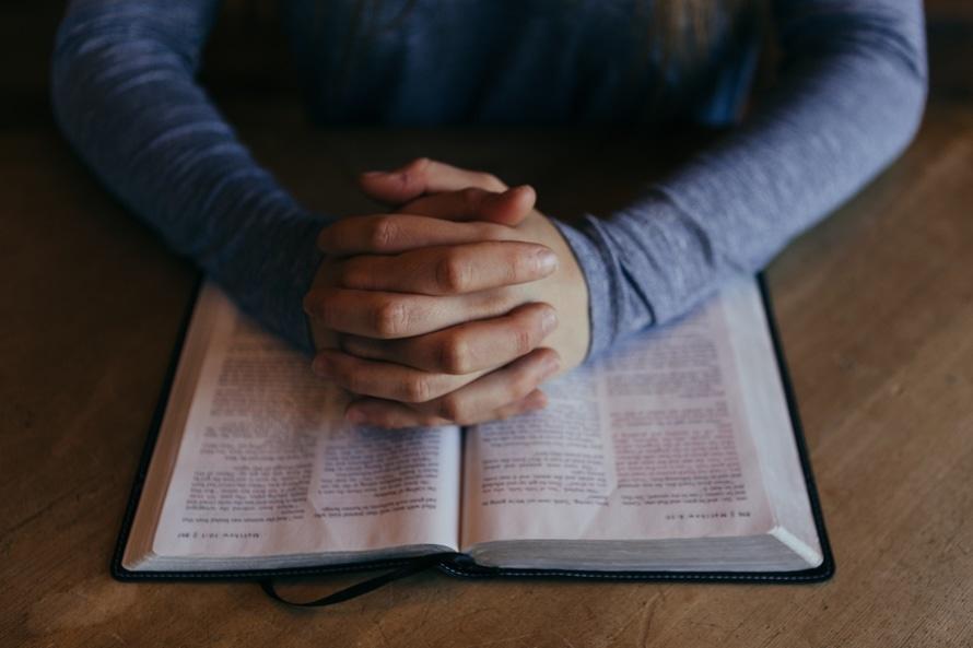 pray - bible - hands