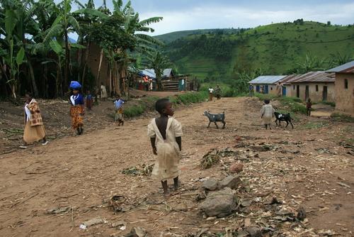 VILLAGGIO, CONGO, POVERI