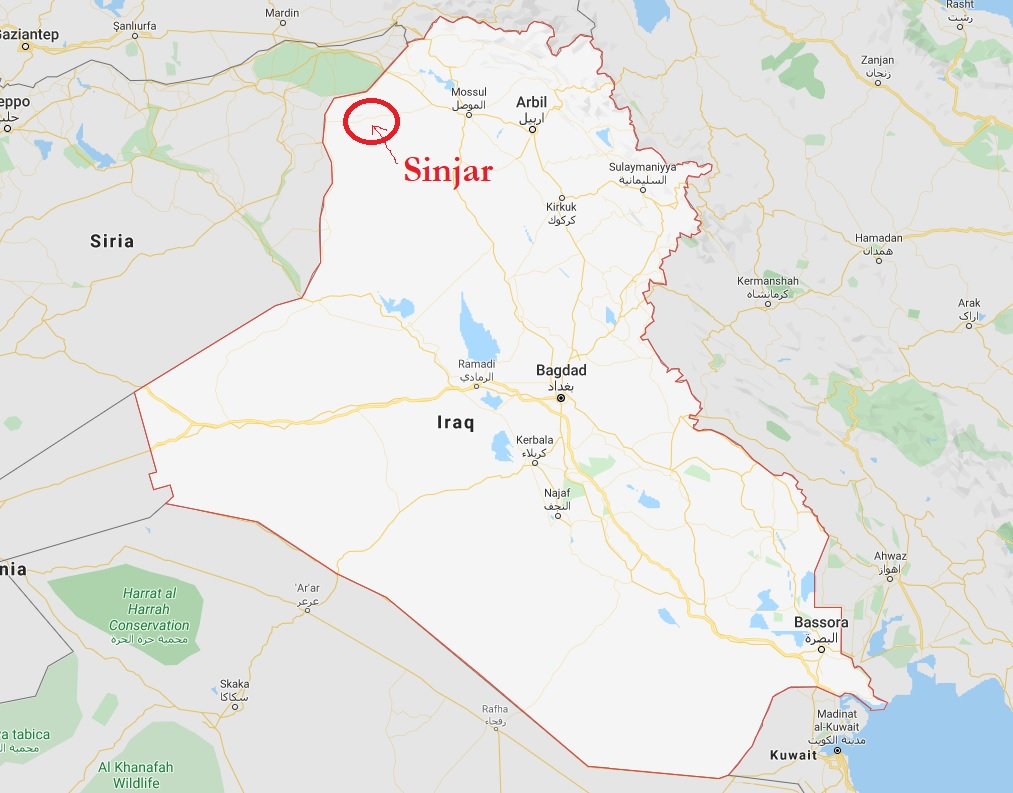 IRAQ, SINJAR, MAP